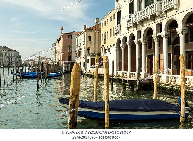 Spring afternoon on Grand Canal in Venice, Italy