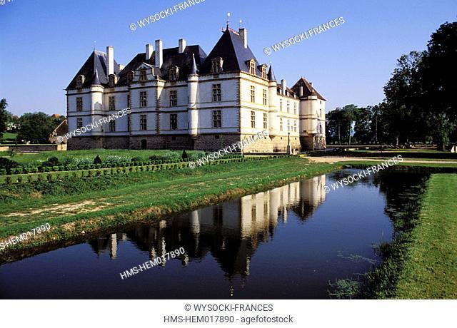 France, Saône-et-Loire (71), Cormartin castle in Burgundy