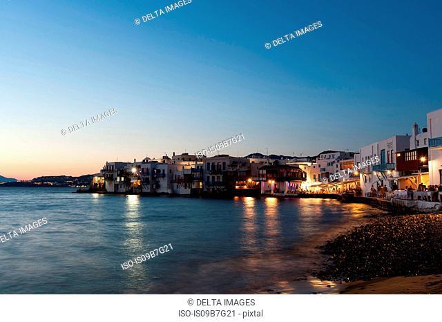 Little Venice, Mykonos Town, Cyclades, Greece