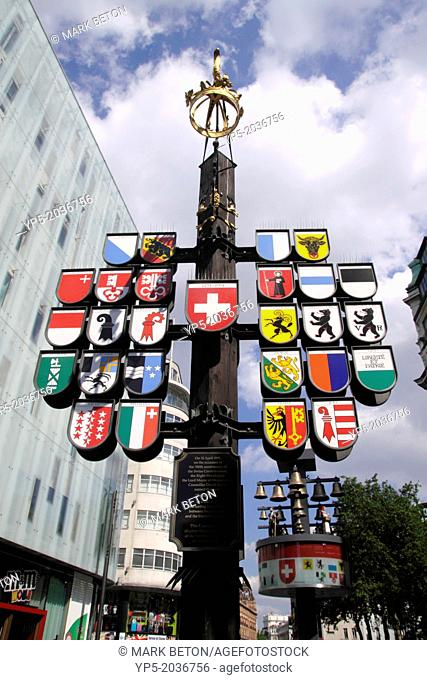 Cantonal tree in Swiss Court Leicester Square London