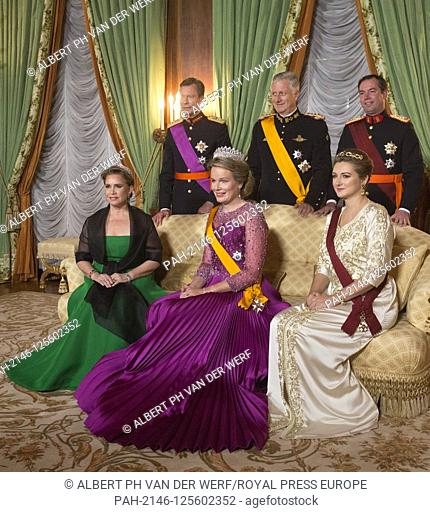 Grand Duke Henri, Grand Duchess Maria Teresa, Prince Guillaume, Grand Duke Hereditary and Princess Stephanie, Grand Duchess Hereditary of Luxembourg