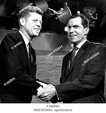 John Kennedy Nixon Stock Photos And Images Age Fotostock