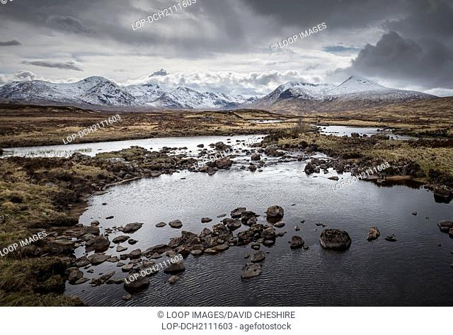 Rannoch Moor and the mountains of Glencoe