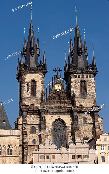 Tyn Church, Prague, Czech Republic, Europe
