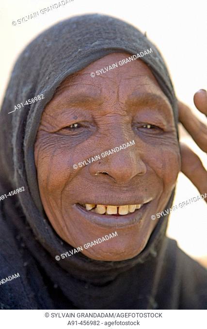 Woman, Nubian village of Sesebi. Upper Nubia, Sudan