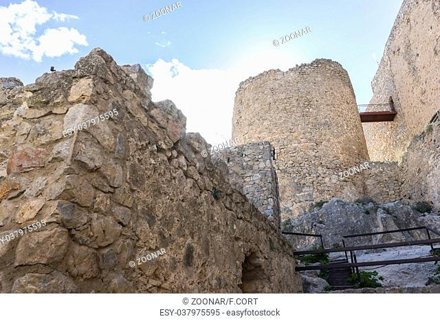 fortress and castle of Consuegra in Toledo, Spain. medieval fortification