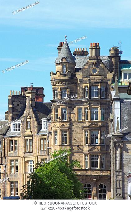 UK, Scotland, Edinburgh, Cockburn Street, historic architecture,