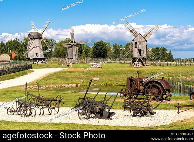 Estonia, Saaremaa, Windmill Museum Angla