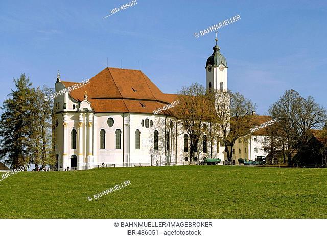 Wieskirche the Pfaffenwinkel Upper Bavaria Germany