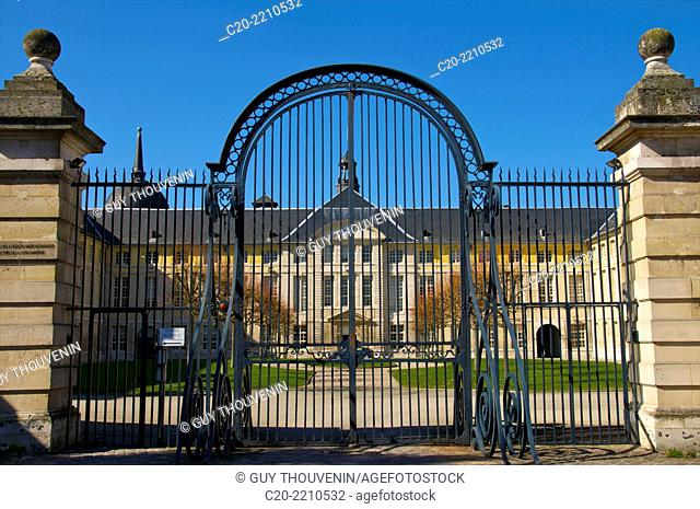 Entrance Gate, Prefecture buildings, and gardens,ancient Hotel Dieu, Rouen, 76000 High Normandy, France