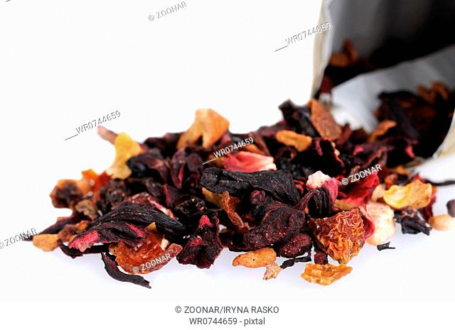 Fruit and floral dry tea
