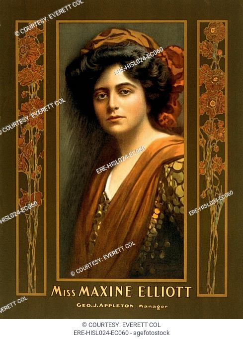 Maxine Elliott 1868-1940 an actress romantically linked with J.P. Morgan in the early 1900s. He is believed to have financed her Broadway theater in 1907