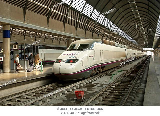 AVE-High Speed Train, Railway station Sevilla-Santa Justa, Seville, Spain