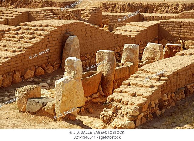 Syria, Ebla, wool dying area, at the Royal Palace, 4.000-3.000 BC