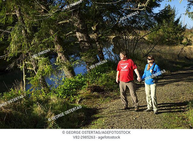 Alder Island Nature Trail, Siletz Bay National Wildlife Refuge, Oregon