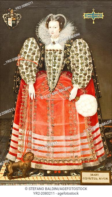 Portrait of Mary Kytson, lady Darcy of Chiche, later lady Rivers, about 1590, british school 16th century, oil on canvas, Tate modern, London, England