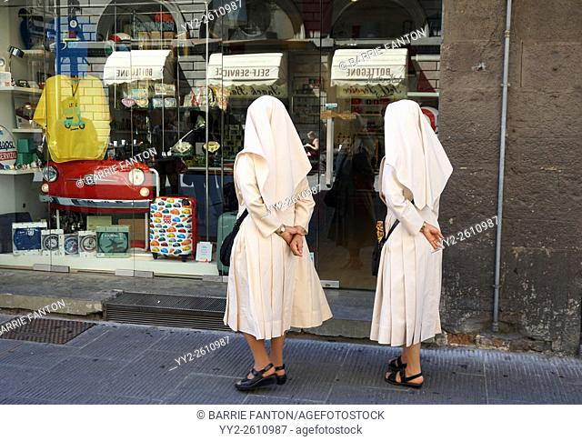 Nuns Window Shopping, Florence, Italy