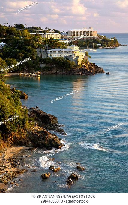Luxury hotels and resorts along the coast of St  Thomas, US Virgin Islands