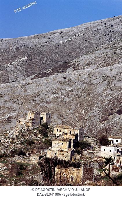 Leondakis village, Mani peninsula, Peloponnese, Greece
