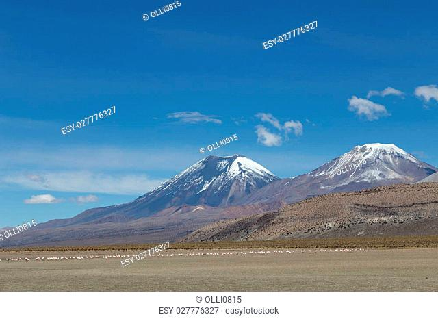Photograph of the highest mountain in Bolivia Mount Sajama