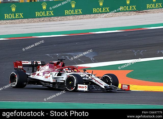 23.10.2020, Autódromo Internacional do Algarve, Portimao, FORMULA 1 HEINEKEN PORTUGUESE GRAND PRIX 2020, in the picture Kimi Raikkonen (FIN # 7)