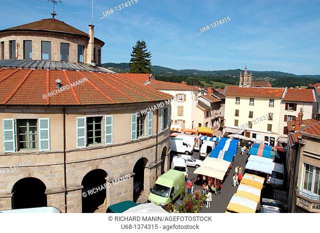 France, Auvergne, Puy de Dome, Livradois Forez, Ambert village, city hall