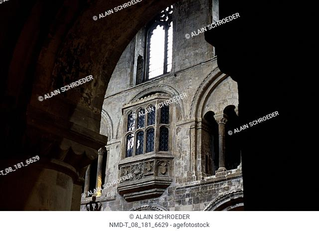 Low angle view of the window of a church, St  Bartholomew-the-Great, London, England