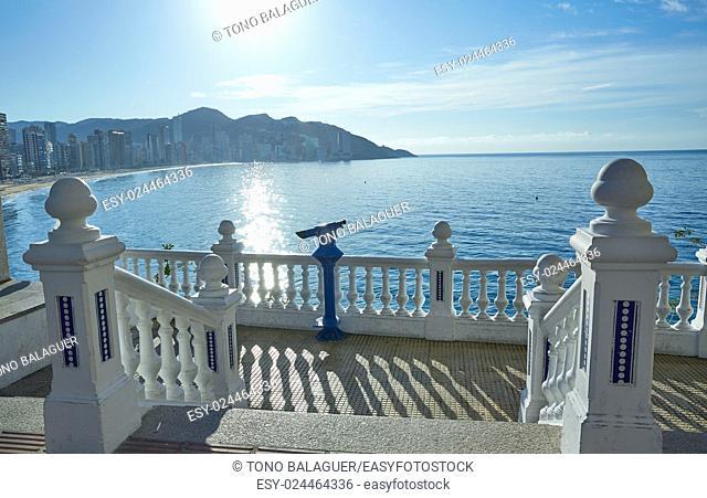 Benidorm Mirador del Castillo Mediterranean lookout point in Alicante Spain