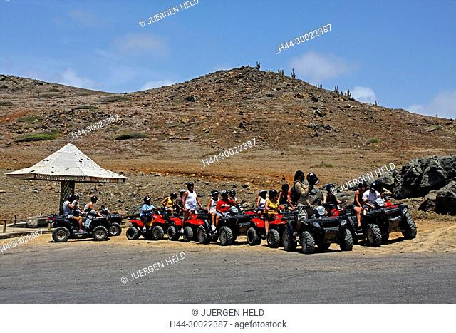 West Indies, Bonaire, West Indies, Aruba , Adventure Tour with Quads, ATV