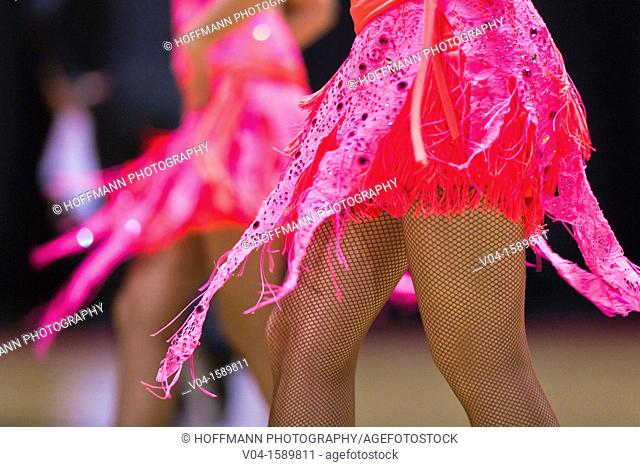 Close up of a pink dress at a dancing competition, Germany, Europe