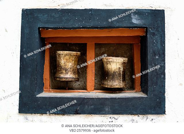 Buddhist prayer -rolls. Hemis gompa. Indus valley, Ladakh (india)