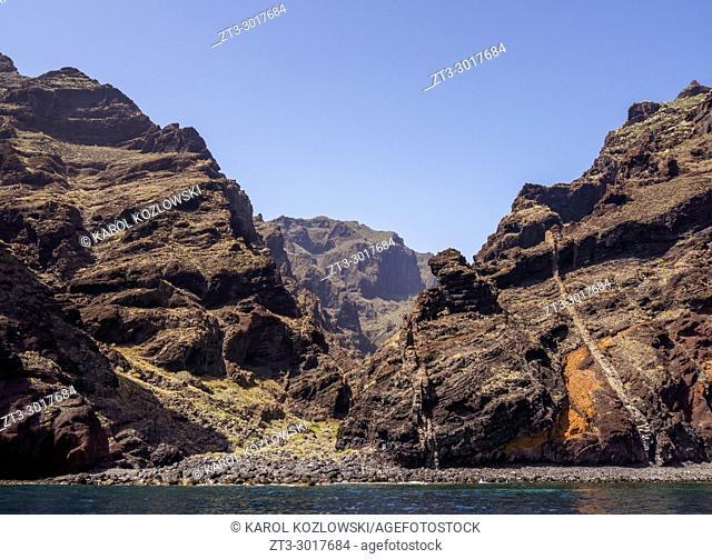 Barranco de Masca, gorge, Teno Massif, Tenerife Island, Canary Islands, Spain