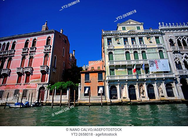 Buildings in Grand Canal, Venice, Italy