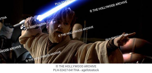 Jedi Obi-Wan Kenobi (Ewan McGregor) shows his skills with a lightsaber often in Star Wars: Episode III Revenge of the Sith.TM & © 2005 Lucasfilm Ltd
