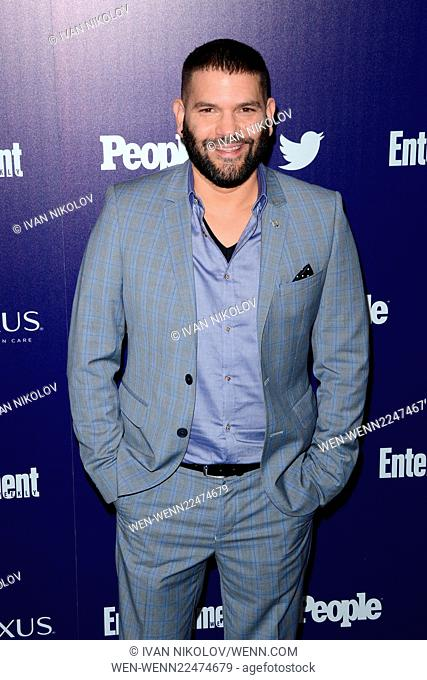 Entertainment Weekly And PEOPLE Celebrate The New York Upfronts - Arrivals Featuring: Guillermo Diaz Where: Manhattan, New York