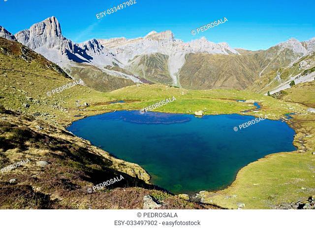 Ansabere Lake. Lescun Cirque. Aspe Valley, Pyrenees, France