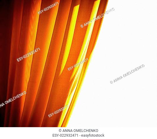 Luxury golden curtain