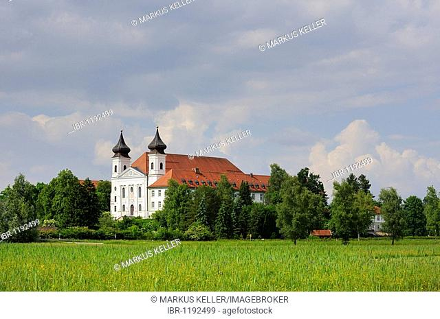 Kloster Schlehdorf-Scharnitz monastery, Schlehdorf, district of Bad Toelz-Wolfratshausen, Bavaria, Germany, Europe