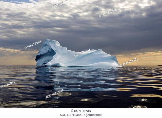 Iceberg in the Labrador Sea off the coast of Cartwright, Labrador, Newfoundland and Labrador, Canada