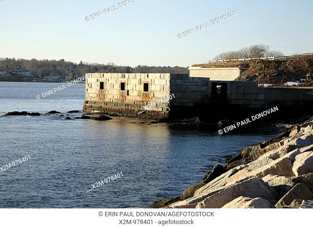 Fort Preble during the winter months  Located in South Portland, Maine USA, which is part of the New England seacoast  Notes: