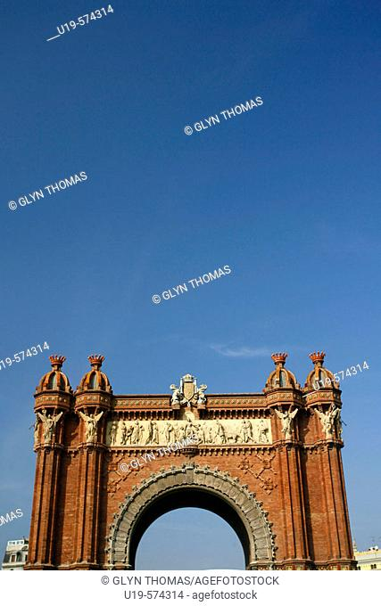 Arc de Triomf, Parc de la Ciutadella, Barcelona, Spain, Europe