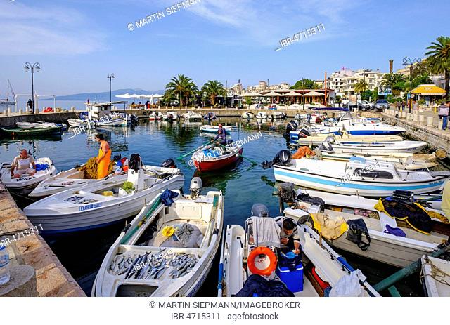 Morning Fishing Harbour, Saranda, Sarandë, Qark Vlora, Ionian Sea, Albania