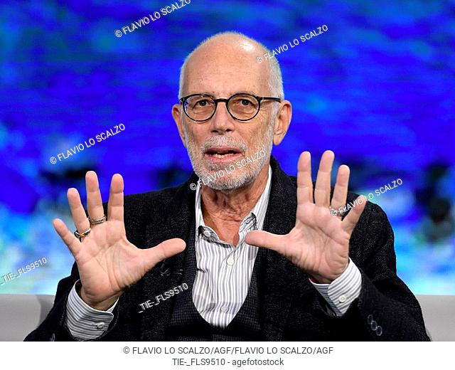 The director Gabriele Salvatores during the tv show Che tempo che fa, Milan, ITALY-20-10-2019