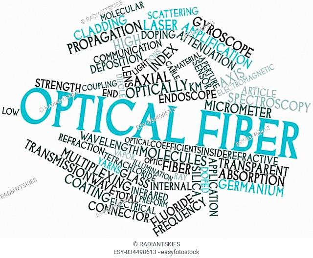 Abstract word cloud for Optical fiber with related tags and terms
