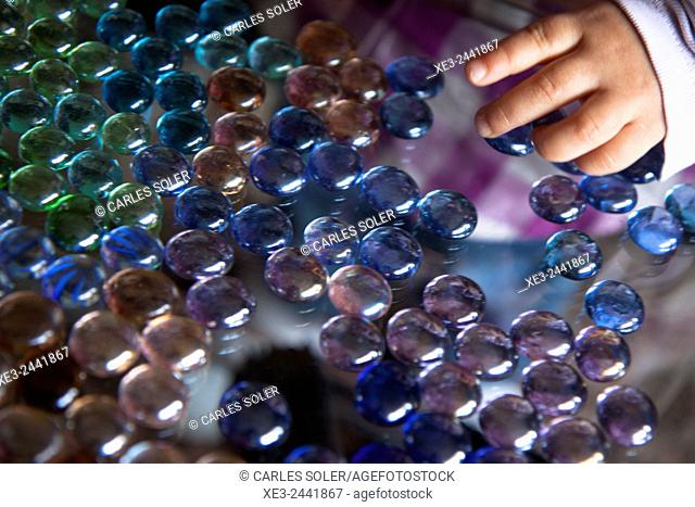 Multi-coloured beads
