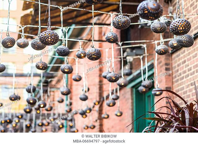 Canada, Ontario, Toronto, Distillery District, lights