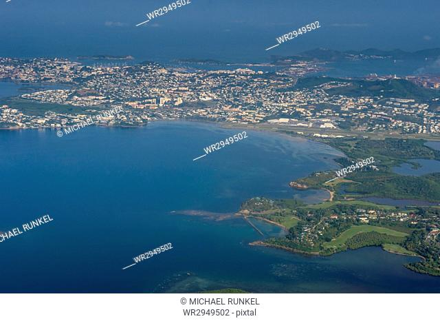 Aerial of Noumea, New Caledonia, Pacific