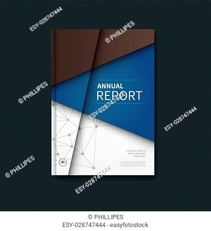 vector booklet, brochure in elegant blue and brown