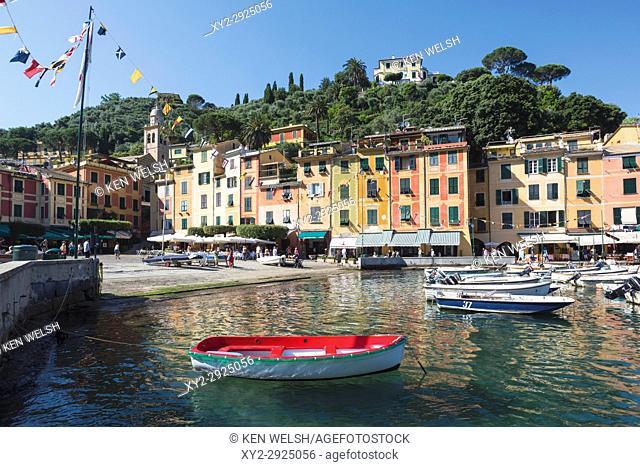 Portofino, Genoa Province, Italian Riviera, Italy. The harbour