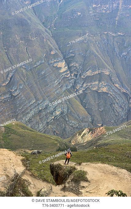 Gazing into the Huanca Urco Canyon at Huancas, Chachapoyas, Amazonas, Peru